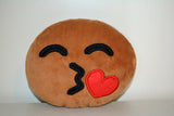 African American Emoji Pillow - Kissed Heart