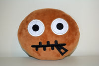 African American Emoji Pillow - Zipped Lips