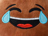 African American Emoji Pillow - Tears of Joy (Closeup)