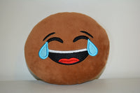 African American Emoji Pillow - Tears of Joy