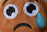 African American Emoji Pillow - Teary Eye (Closeup)