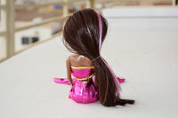 African American Mermaid Princess Doll (Pink Dress)