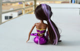 African American Mermaid Princess Doll (Purple Dress)