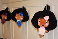 African American backpack dolls