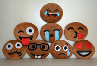 Simply Adorable, Soft Fabric African American Emoji Pillows (8-Pack)