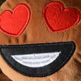 African American Emoji Pillow - Heart Eyes (Closeup)