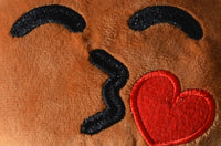 African American Emoji Pillow - Kissed Heart (Closeup)