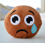 African American Emoji Pillow - Teary Eye