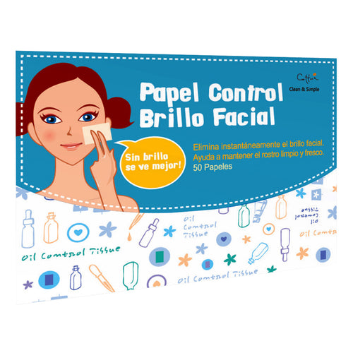 Papel Control Brillo Facial