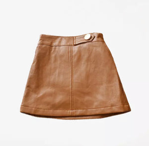 Hazel Faux Leather Skirt