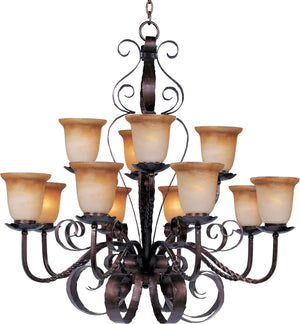 Maxim - 20614VAOI - 12 Light Chandelier - Aspen - Oil Rubbed Bronze