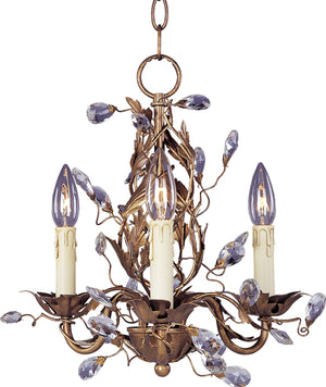 Maxim - 2855EG - Three Light Chandelier - Elegante - Etruscan Gold