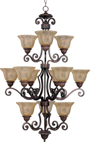 Maxim - 11238SAOI - 12 Light Chandelier - Symphony - Oil Rubbed Bronze