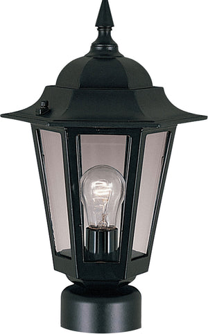 Maxim - 3001CLBK - One Light Outdoor Pole/Post Lantern - Builder Cast - Black