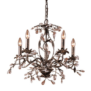 Elk Lighting - 8053/5 - Five Light Chandelier - Circeo - Deep Rust