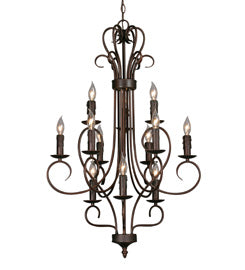 Golden - 8512 RBZ - 12 Light Chandelier - Multi-Family - Rubbed Bronze