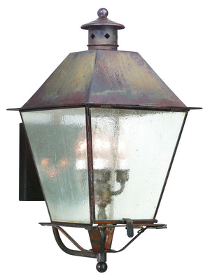 Troy Lighting - BCD9137NR - Four Light Wall Lantern - Montgomery - Natural Rust
