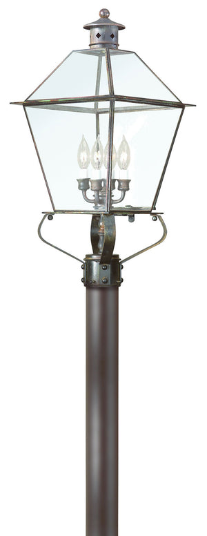 Troy Lighting - P8958NR - Four Light Post Lantern - Montgomery - Natural Rust