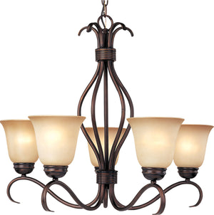 Maxim - 10125WSOI - Five Light Chandelier - Basix - Oil Rubbed Bronze