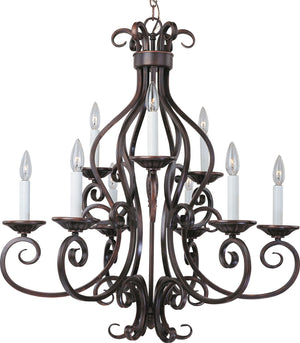 Maxim - 12216OI - Nine Light Chandelier - Manor - Oil Rubbed Bronze