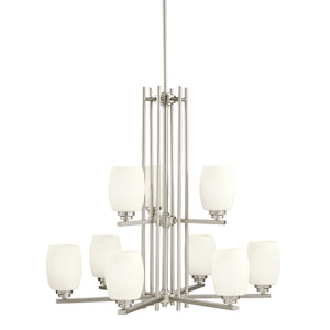 Kichler - 1897NI - Nine Light Chandelier - Eileen - Brushed Nickel