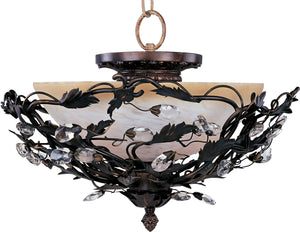 Maxim - 2859OI - Three Light Semi Flush Mount - Elegante - Oil Rubbed Bronze