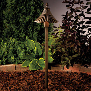 Kichler - 15379OZ - One Light Path & Spread - Gate House - Olde Bronze
