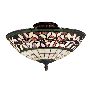Elk Lighting - 933-TB - Three Light Semi Flush Mount - English Ivy - Tiffany Bronze