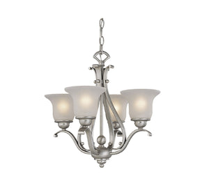 Vaxcel - CH35404BN - Four Light Chandelier (Dual Mount) - Monrovia - Brushed Nickel