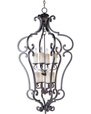 Maxim - 20744CU - Eight Light Entry Foyer Pendant - Richmond - Colonial Umber