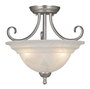 Vaxcel - CF65353BN - Three Light Semi-Flush Mount - Babylon - Brushed Nickel