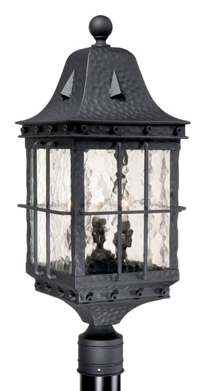 Vaxcel - ED-OPU090TB - Three Light Outdoor Post Mount - Edinburgh - Textured Black