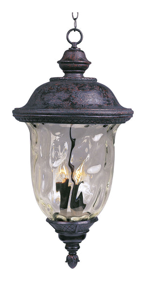 Maxim - 3427WGOB - Three Light Outdoor Hanging Lantern - Carriage House DC - Oriental Bronze