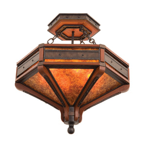 Kalco - 5836NI - Six Light Semi Flush Mount - Aspen - Natural Iron