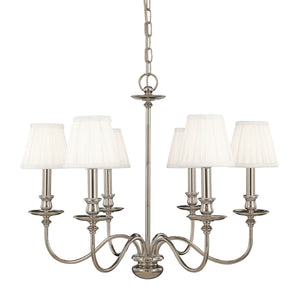 Hudson Valley - 4036-PN - Six Light Chandelier - Menlo Park - Polished Nickel
