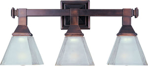 Maxim - 11078FTOI - Three Light Bath Vanity - Brentwood - Oil Rubbed Bronze