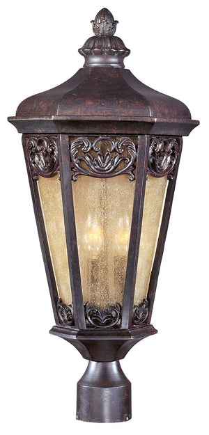 Maxim - 40170NSCU - Three Light Outdoor Pole/Post Lantern - Lexington VX - Colonial Umber