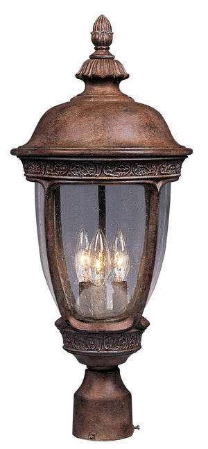 Maxim - 40460CDSE - Three Light Outdoor Pole/Post Lantern - Knob Hill VX - Sienna
