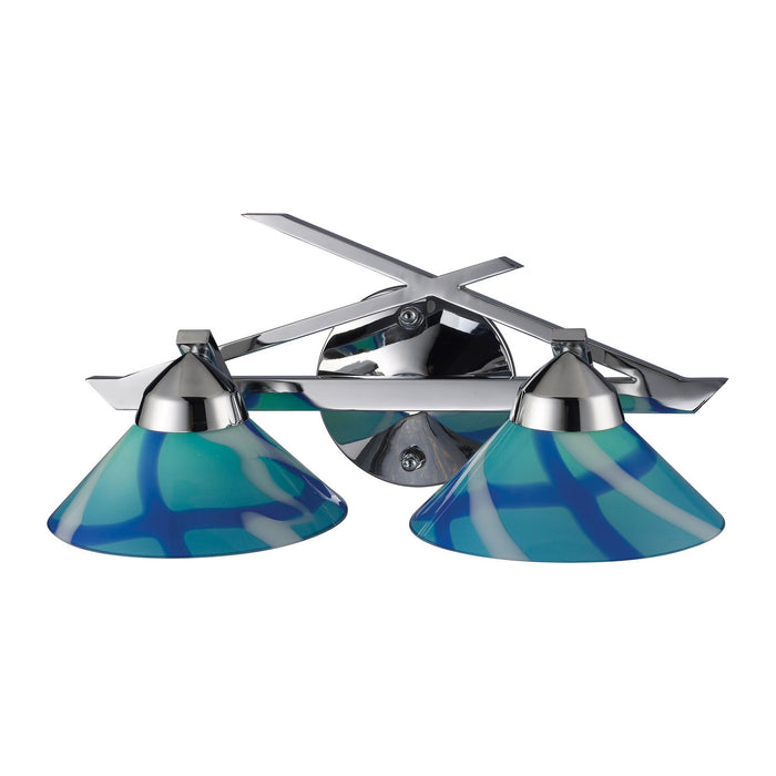"Elk Lighting Two Light Vanity 16.00"" Polished Chrome"