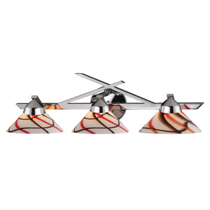 Elk Lighting - 1472/3CRW - Three Light Vanity - Refraction - Polished Chrome