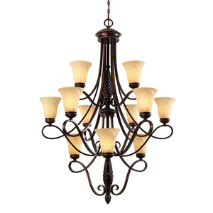 Golden - 8106-363 CDB - 12 Light Chandelier - Torbellino - Cordoban Bronze