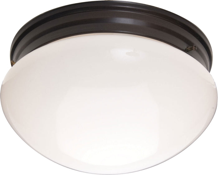 "Maxim Two Light Flush Mount 9.00"" Oil Rubbed Bronze"