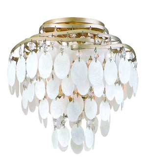 Corbett Lighting - 109-33 - Three Light Semi Flush Mount - Dolce - Champagne Leaf