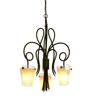 Kalco - 4298AC/ANTQ - Three Light Chandelier - Tribecca - Antique Copper