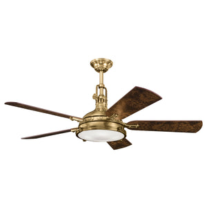 Kichler - 300018BAB - 56``Ceiling Fan - Hatteras Bay - Burnished Antique Brass