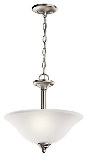 Kichler - 3694NI - Two Light Pendant/Semi Flush Mount - Wynberg - Brushed Nickel