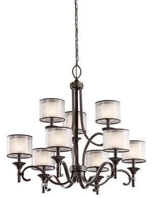 Kichler - 42382MIZ - Nine Light Chandelier - Lacey - Mission Bronze