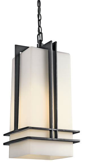 Kichler - 49205BK - One Light Outdoor Pendant - Tremillo - Black