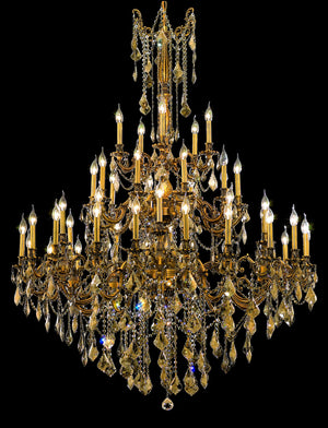 Elegant Lighting - 9245G54FG-GT/SS - 45 Light Chandelier - Rosalia - French Gold