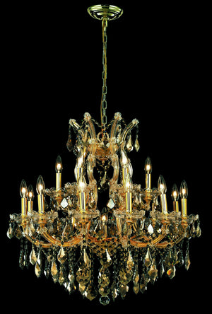 Elegant Lighting - 2800D30G-GT/SS - 19 Light Chandelier - Maria Theresa - Gold